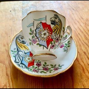 Queen Anne England The Queens Beasts Teacup Set